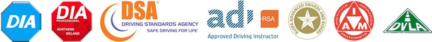 DOAK Driver Training Approved and Recognised with: DIA, DSA, ADI, DVTA, Cardington, Ro.S.P.A, DVLA, IAM, and more.